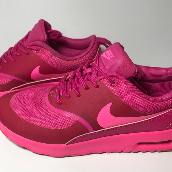 Nike Air Max Thea Big Kids 814444 001 Black Hyper Pink Athletic Shoes Size 7